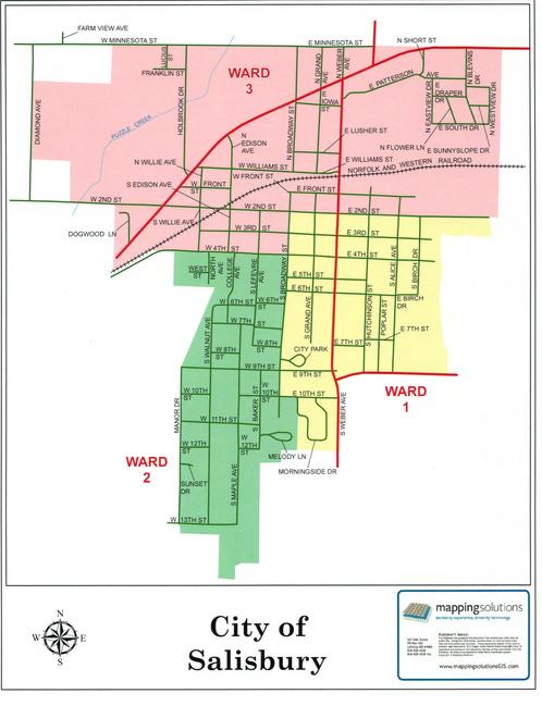 Salisbury City Map